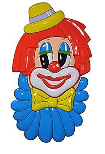 Whity Whiteman - Karneval Deko- Wanddekoration Clown, 1 Stück, Mehrfarbig (Hula Boy Kostüm)
