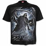 Spiral Direct Reaper Bats T Shirt Imprimé Faucheuse Gothique (Noir) - Small...