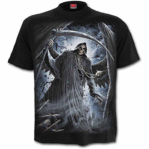 Spiral - REAPER BATS - Schwarz T-Shirt-für Männer Black