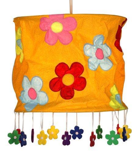 oaks-lighting-daisy-abat-jour-suspensions-orange-fleurs
