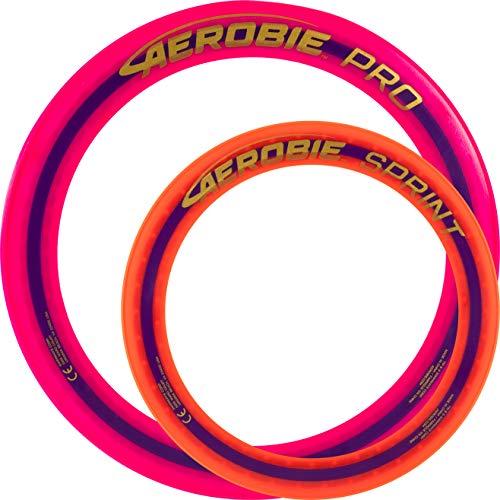 Aerobie Pro Wurfring Sprint Frisbee Ring Wurfspiel Set Pro Sprint Ring (Pink / Orange)