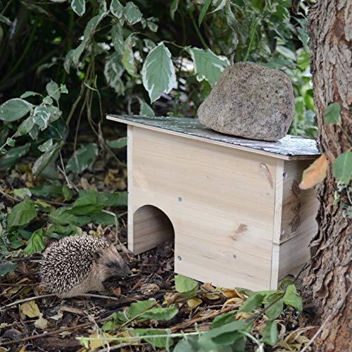 Gardigo 90568 casa per riccio con tetto apribile casetta ricci in legno hedgehog house con - Riccio in giardino ...