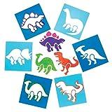 Baker Ross Pochoirs dinosaures (lot de 6), loisirs créatifs pour enfants