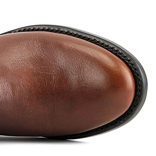 Lucchese Tall Riding Boot M85 Rund Leder Mode-Knie hoch Stiefel Rust