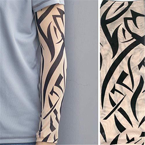 JinRui-Sport Tattoo Sleeve Tattoo Ärmel Männliche Blume Arm Tattoo Ärmel Driving Sun Ärmel Ride, L, W006 2 Packungen - Sun Keltische Tattoo