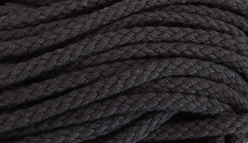 5 m Baumwollkordel 5 mm dunkel grau