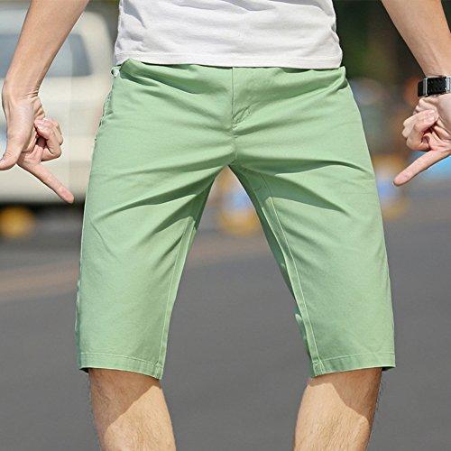 Moda Sottile Sport Casual Da Uomo Pantaloni Corti Corti Bicchierini Short Cargo Verde