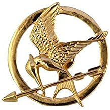 Bañados en oro 18K Juegos del Hambre Katniss Sinsajo broche/Pin