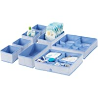 mDesign boîte de Rangement pour Chambre d'enfant en Fibre synthétique réspirante (Set de 8) – bac de Rangement pour…
