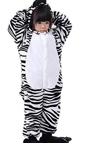 Cliont Bambini Animal Tutina Zebra Pigiama Kigurumi