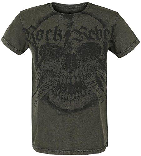 Rock Rebel by EMP Skull Screamer T-Shirt braun Braun