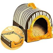 ACTNOW Casa de mascotas y sofá portátil 2 en 1 - Iglú antideslizante para perros y