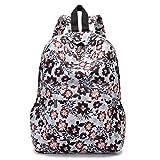 VJGOAL Damen Rucksack, Damen Männer Frischen Stil Rucksäcke Blumendruck Bookbags Weibliche Reise Schultaschen Studenten Rucksack (E)