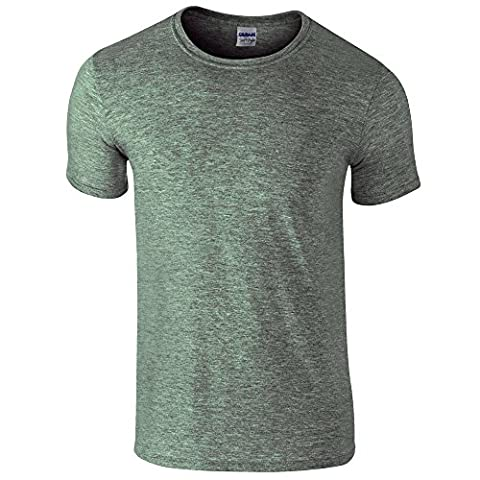 Gildan Softstyle, adult ringspun t-shirt Heather Military Green M