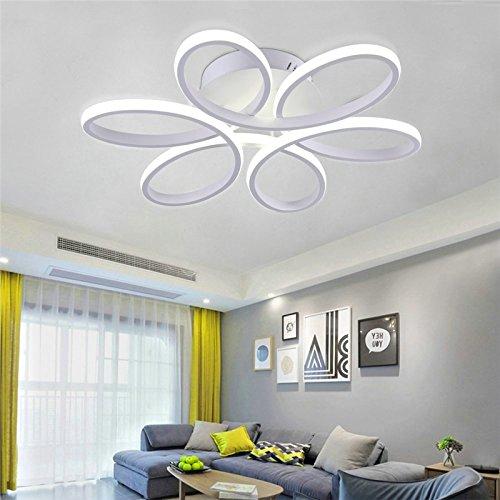 Lámpara LED de techo - HomeLava 50W Lámpara de Techo Moderna para Salón/Comerdor/Habitaciones,Color Blanco (Blanco Frío)