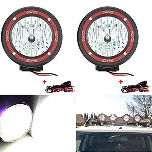 Hid Spot-beam-lampe (katur 10,2cm Eingebautes Xenon 55W H3HID fahren Arbeit Lampe Spot Beam Licht 6000K 4x 4Offroad Rally rund, Lampe, passt Truck SUV ATV -1pcs)