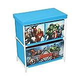 Marvel Avengers Kids Toy Storage Unit, Fabric, Blue, 60 x 53 x 30 cm