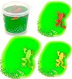 Nick and Ben Grüner Spiel-Schleim 3 Stück Set Frosch Kaulquappen-Laich Party Spaß Slime-Dose Knet-Masse Anti-Stress Kinder-Spielzeug