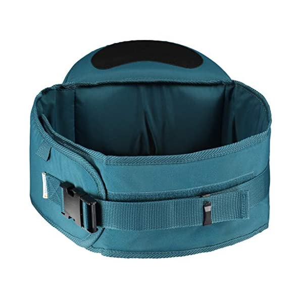 Hippychick Hipseat Baby Carrier - The Easy, No-Fuss Baby Carrier That Takes Care of Your Back- Teal Hippychick EASILY CARRY YOUR PRECIOUS BABY or toddler without strain or discomfort and meet the all-important need of your child to be carried close to you. No need to figure out how to get baby and you comfortable or where all the straps go. The wide waistband provides comfort and strong support with no-fuss simplicity. CARRYING YOUR CHILD AGAINST YOUR BODY is Nature's way. The hipseat with its generous, luxuriously padded, back-supporting belt, featuring an integrated, moulded seat, supports the child's weight from underneath ensuring your spine stays straight. Little ones are carried in a way that is comfy and bonding, while your back is protected from short term fatigue and long term damage. ITS EASY HOP-ON/HOP OFF DESIGN and elevated carrying position, makes it invaluable on sightseeing trips, holidays, long walks, crowded cities, festivals and anywhere buggies don't fit. Its back supporting design is perfect for carrying children between 6 month and 3 years. 2