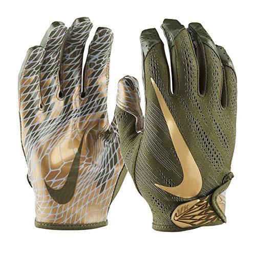 Nike Vapor Knit 2.0 Design 2018 Receiver Handschuhe - olivgrün/Gold Gr. L