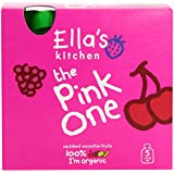 Ellas Kitchen The Pink One Fruit Smoothie Multipack 5x90 g (Pack of 3, Total 15 Pouches)