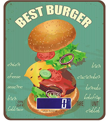 L B S Medical-Bilancia da cucina Vintage visivo, motivo: Burger