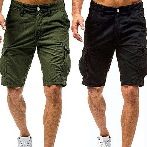 Pantaloni corti bermuda cargo pantaloncini uomo cotone lavoro pantaloni tasconi con elastico pantofole uomini estive casual pantaloncino sportivi