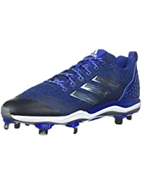 41be002085 Adidas Hombres Icon MD Bajos & Medios Cordon Zapatos para Béisbol,  Collegiate Royal/Metallic