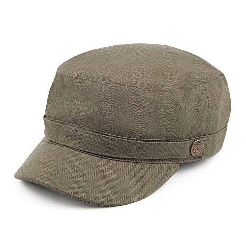 Village Hats Casquette Militaire à Chevrons Olive Jaxon & James - Medium