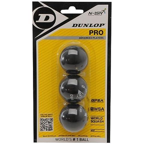 Dunlop - Pelotas de Squash - Paquete con 3 Piezas - Doble Amarillo