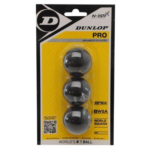 3x Dunlop Squashbälle Farbe : DOPPELGELB -