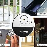 TOP-GUARDE Ultra-Dünner Fensteralarm mit lautem 100dB Schwingungssensor,siren,Window Sensors - Modell SE-0106(4pcs)