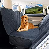 Petslover Waterproof Scratch-Proof Stain-Proof Nonslip Durable Seat Car Covers for Dog/Cat- Hammock Convertible (Black)