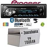 VW Touran - Autoradio Radio Pioneer DEH-S5000BT - Bluetooth   CD   MP3   USB   Android   iPhone 12V Radiopaket Einbauzubehör - Einbauset