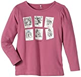 NAME IT Mädchen Langarmshirt Omaria Mini LS Top, Einfarbig, Gr. 92, Rosa (Red Violet)