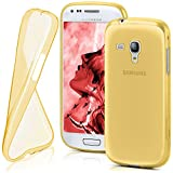 moex Samsung Galaxy S3 Mini | Hülle Silikon Transparent Gold Clear Back-Cover TPU Schutzhülle Dünn Handyhülle für Samsung Galaxy S3 Mini S III Case Ultra-Slim Silikonhülle Rückseite