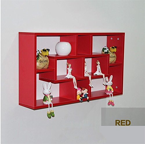 Rote-speicher-kabinett (Multifunktions Wandbehang Regal Wand Wand Bücherregal Speicherorganisator Einfache Schlafzimmer Wandbehang Kabinett (müssen zusammenbauen) ( Farbe : Rot ))