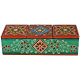 Anil Art And Craft Handicraft Jewelry Box, Painted Decorative Box, Utility Boxes For Storage, Gifts Box Rakhi Packing Box (24 Cm X 9 Cm X 7 Cm) Hand Crafted Wooden Decorative Box Cum Multipurpose Utility Box For Table Decor, Home Decor, Desk Organizing An