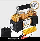 Q&F Luft-kompressor pumpe 12vcar reifen inflator 12v Dc Auto-luftpumpe elektrischer Reifen-luftpumpe mit manometer digital Für auto,Fahrrad-B