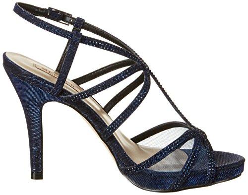 Menbur Chipre, Chaussures Compensées Femme Blau (Midnight-Blue)