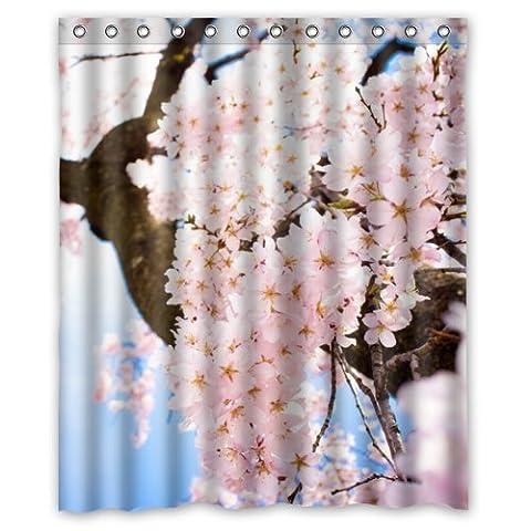152,4cm (L) x 182,9cm (H) Peach Blossom Fleur populaire de salle de bain Rideau de douche 100% polyester