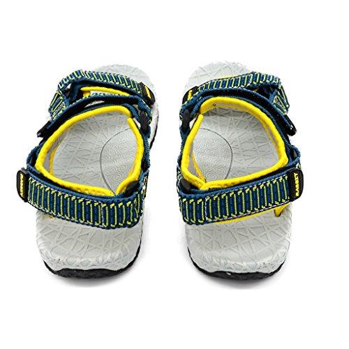 Bwiv Jungen Sport Outdoor Sandalen Voll offen Klettverschluss Weben Stoff Schnelltrocknend PHYLON Stoßdämpfung Innensohlen Für Kinder Sommerurlaub Gelb