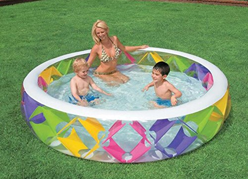 CivilWeaEU Runder aufblasbarer Pool Familienpool mit erwachsener Badewanne