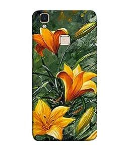 PrintVisa Designer Back Case Cover for Vivo V3 (Painting Watercolor Lily Beauty Saskatchewan Beautiful Art)
