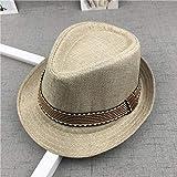 GNLLYOPNuovo Cappello di Paglia cap Cappelli per Bambini Jazz cap Benna Cappello da Sole Cappello Estivo per Ragazze Ragazzi Panama Cappello Fotografia Puntelli