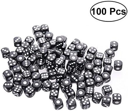 Toyvian Dés en en en Plastique 6 Faces pour KTV Party Bar Gaming 100 PCS (Noir) 8da583