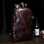 Sac à dos épaule rétro d'origine, hommes et femmes mobile sac à dos de voyage ,Brown