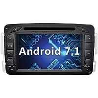 YINUO 7 Pulgadas 2 Din Android 7.1.1 Nougat 2GB RAM Quad Core Pantalla Táctil Estéreo Reproductor De DVD GPS Navegador Multimedia Radio De Coche HD 1024*600 Para Mercedes-Benz C class W203(2000-2005) / Mercedes-Benz Clk -C209 / W209(1998-2004.5) / Mercedes-Benz Viano/Vito W639 (2004-2006) / Mercedes-Benz Vaneo(2002-2005)/ Mercedes-Benz G-W463(1998-2004) /Mercedes Benz A-Class W168 (1998-2002) Soporte DAB/ Control Del Volante Bluetooth/ AV-IN/ 1080p (Autoradio)