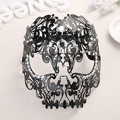 Marti Gras Masken - SOOKi Halloween Metall-Spitze Maske, Schädel-Maskerade-Masken Christmas