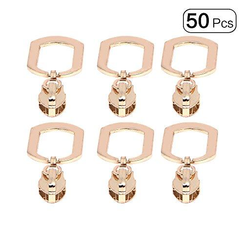 Slide-lock-reissverschluss (Anjing 5# Reißverschluss Reparatur Set Fix Metall Reißverschluss für Geldbörse Rucksack Gepäck 50)